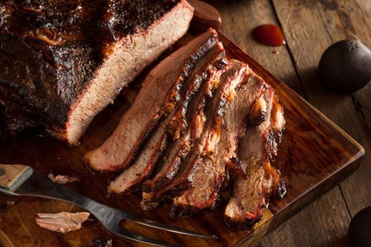 homemade smoked barbecue beef brisket with sauce.jpg